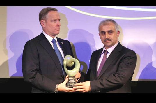 Journalists and Writers Foundation (GYV) President Mustafa Yeşil received the prestigious award on behalf of Gülen.