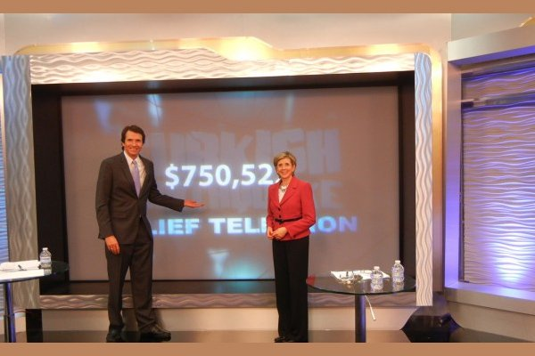 Ebru TV collected almost $800,000 during its telethon. (Photo: Cihan)
