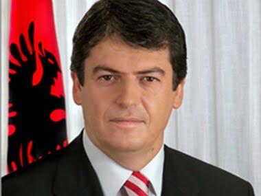 Albanian President Bamir Topi