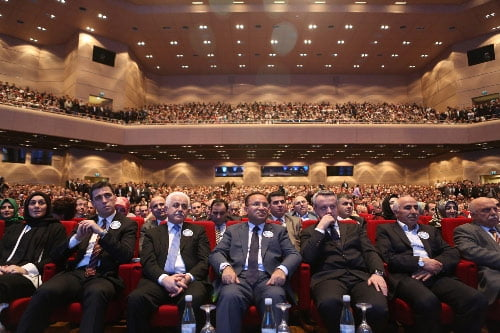 Deputy Prime Minister Bekir Bozdağ, in the middle, attended the opening ceremony of the Irmak TV on Thursday night