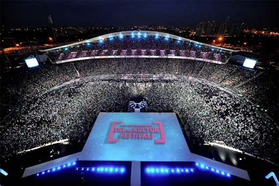 A spectacular closing ceremony for Turkish Language Olympiads took place at İstanbul Atatürk Olimpiyat Stadium.