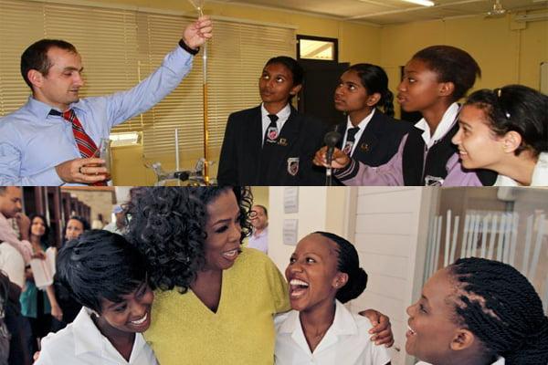Upper part: a Gulen-inspired school; Lower part: Oprah's Leadership Academy