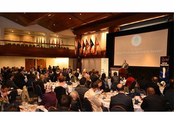 The Rumi Forum, an international organization promoting interfaith dialogue and peace, honored its 2013 RUMI Peace and Dialogue Award recipients on Thursday evening in Washington, D.C. (Photo: Cihan, İhsan Denli)