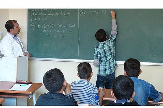A classroom in a prep school in southeastern Turkish province of Şırnak. (Photo: Cihan, Ali Güven)