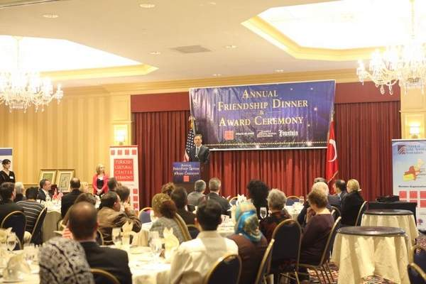 Gov. Peter Shumlin addresses the Turkish Cultural Center of Vermont's first Friendship Dinner and Award Ceremony.
