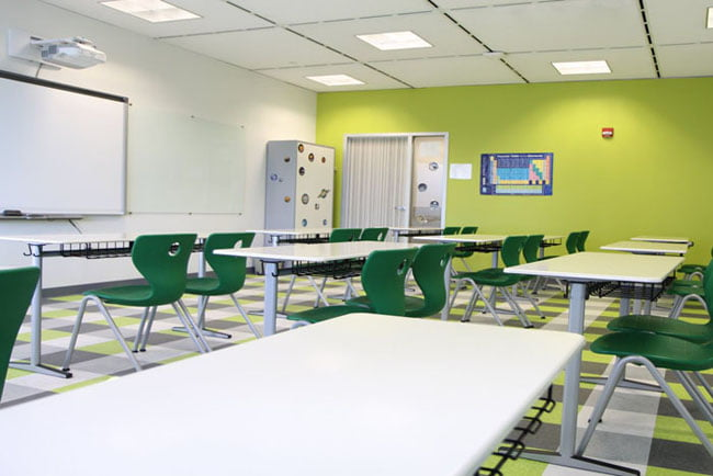 Modern Classroom Building ~ Turkish school leaves tight quarters for spacious former