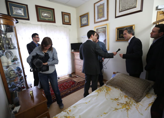 Fethullah Gulen's bedroom Mr Gulen's tiny bedroom - a surprise, given the size of his residence
