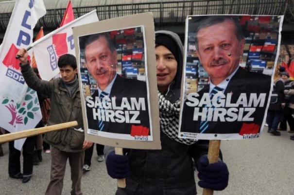 Recep Erdogan's government has been mired in a corruption scandal