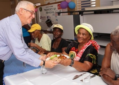 Education minister in Jamaica joins Kimse Yok Mu to feed needy