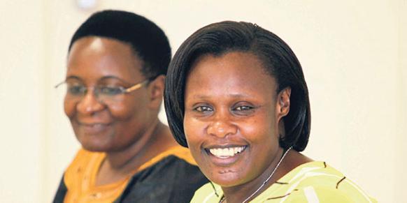 Ugandan Education Minister Jessica Alupo (R) (Photo: Cihan)
