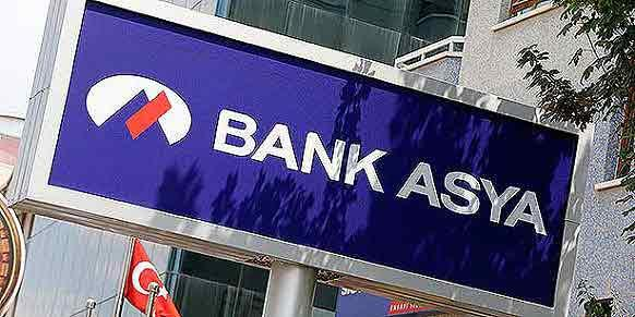 A Bank Asya logo is seen at a branch in Ankara. (Photo: Reuters)
