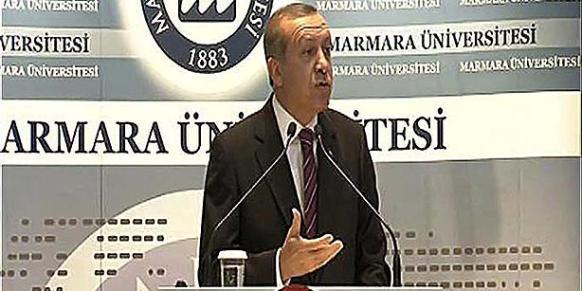President Erdoğan speaks at İstanbul's Marmara University on Oct 13, 2014. (Photo: DHA)