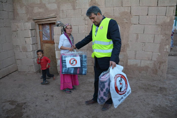 Denmark's Time to Help charity, reaching out to millions in need around the globe, initiated a aid campaign for Syrians.