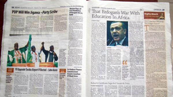 That Erdogan's War With Education In Africa