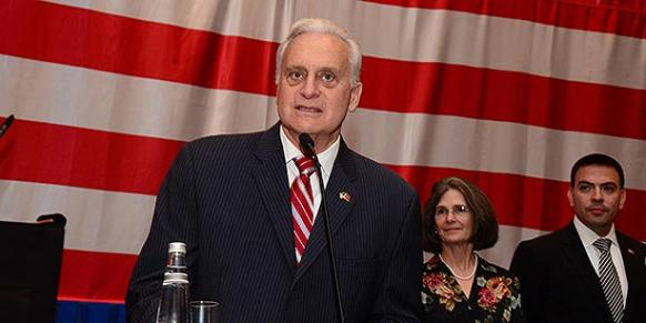 Former US Ambassador to Turkey Francis Ricciardone attends an event in the southern province of Adana in this June 2014 file photo. (Photo: DHA)
