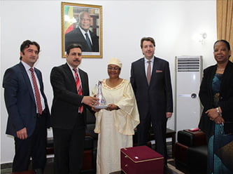 Mali's first lady Aminata Keita recently received a delegation from the local Horizon Turkish School