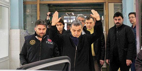 """General manager of the Samanyolu Broadcasting Group (STV) Hidayet Karaca was arrested on suspicion of heading a terrorist group based on """"evidence"""" that came from a soap opera script that was broadcast five years ago on STV. (Photo: Today's Zaman)"""