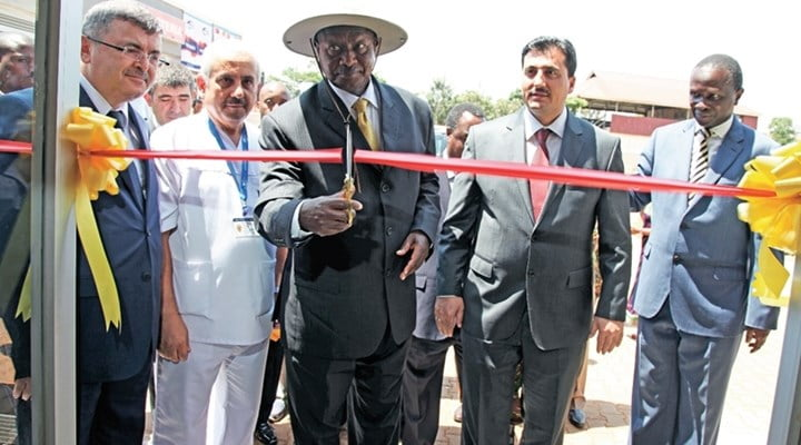 Ugandan President Yoweri Museveni was in attendance at the opening of the Nile Hospital