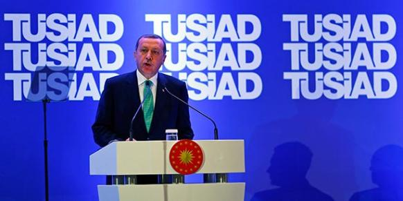 """Turkish President Tayyip Erdoğan said """"Bank Asya is already finished"""" during his address at a meeting of the Turkish Industry and Business Association (TÜSİAD) in Istanbul September 18, 2014. (Photo: Reuters)"""