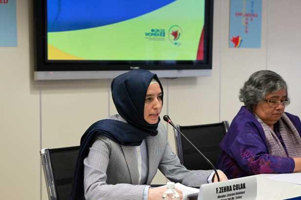 F. Zehra Colak Member of External Relations Kimse Yok Mu, Turkey