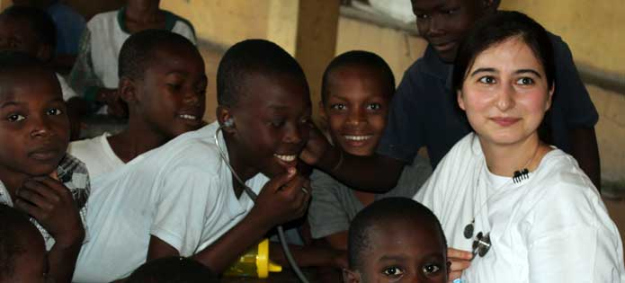 Embrace Relief and White Tulip Health Foundation organized a health screening at an orphanage in Haiti.