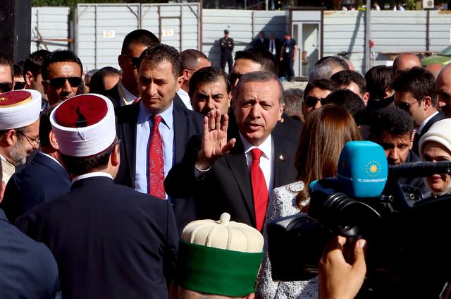Erdogan during his visit in Albania on May 11, 2015 | Photo by