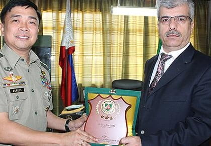 Philippine army awards Kimse Yok Mu for aid and contribution to peace