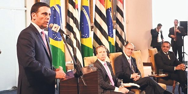 """Jose Americo is seen speaking at an official ceremony on Friday held as part of a """"Turkish week"""" in Brazil. (Photo: Cihan)"""