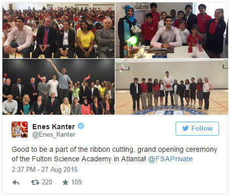 Enes Kanter at Fulton Science Academy in Atlanta