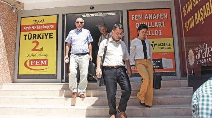 Reaction has continued to grow against the politically motivated raids targeting private businesses and schools across the country, with new raids hitting eight prep-schools in Mersin province, southern Turkey, on Tuesday morning.
