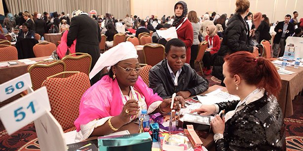 Four hundred fifty businesswomen from 45 African countries attended the Turkish Confederation of Businessmen and Industrialists meeting. (Photo: Today's Zaman)