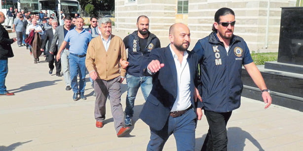 """Numerous businessmen in Uşak province were detained last week as part of a government-led investigation into the so-called """"parallel structure."""" (Photo: DHA)"""