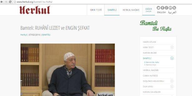 A screen shot from herkul.org shows a video featuring Gülen. (Photo: Today's Zaman)