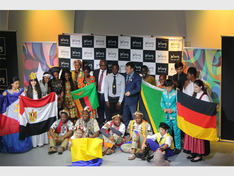 Some of the delegates of the International Festival of Language and Culture with some of the officials from the City of Johannesburg.