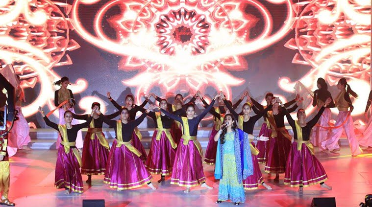 Over 400 students from 17 nations gathered in New Delhi to spread the message of 'Vasudhaiva Kutumbakam' as a part of the 14th International Festival of Language & Culture. (Source: Iflc India/Facebook)