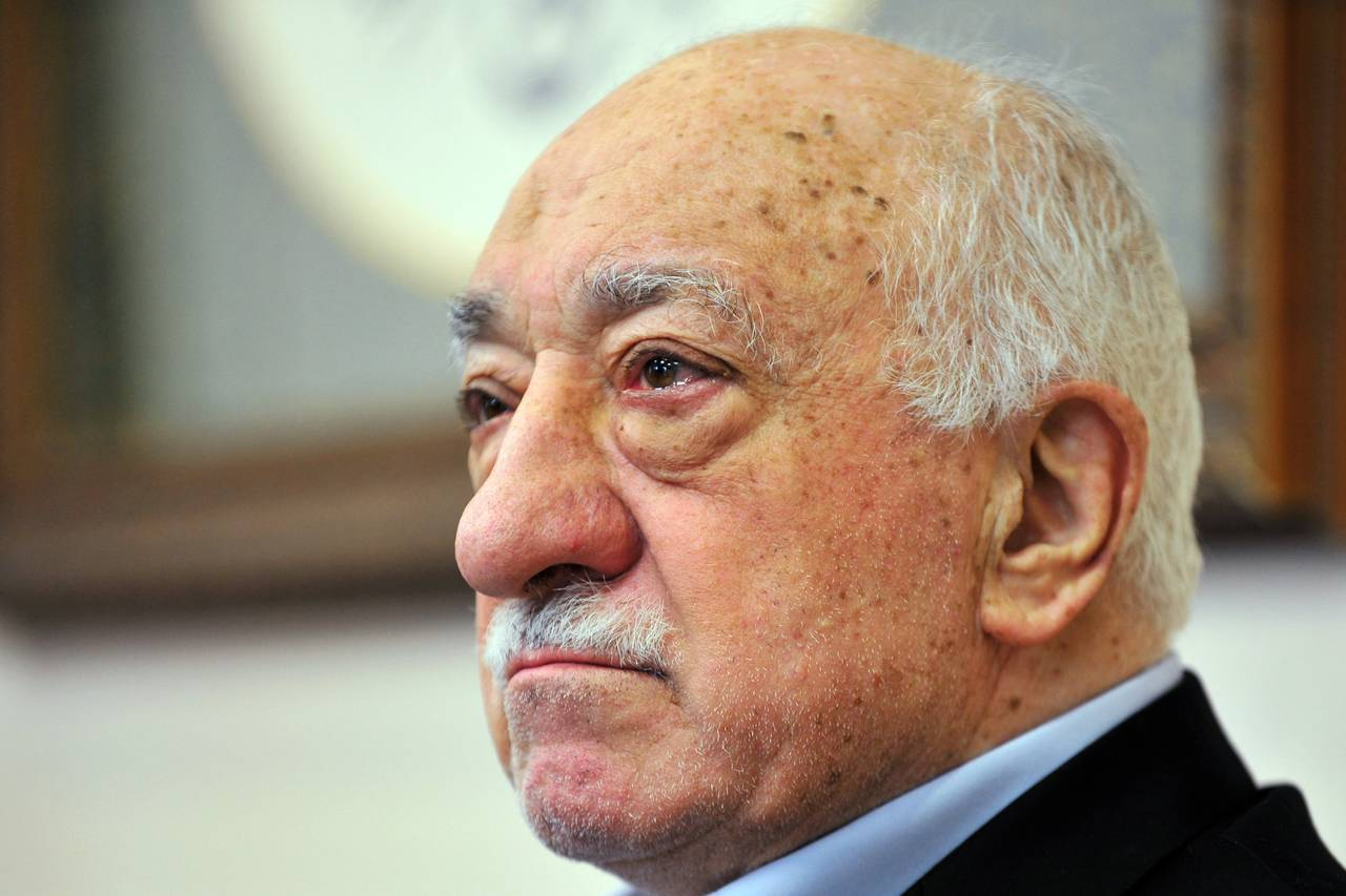 Islamic cleric Fethullah Gulen speaks to members of the media at his compound on July 17 in Saylorsburg, Pa. PHOTO: CHRIS POST/ASSOCIATED PRESS