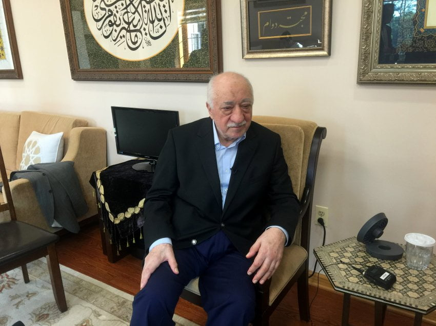 Cleric Fethullah Gülen at his home in American exile.
