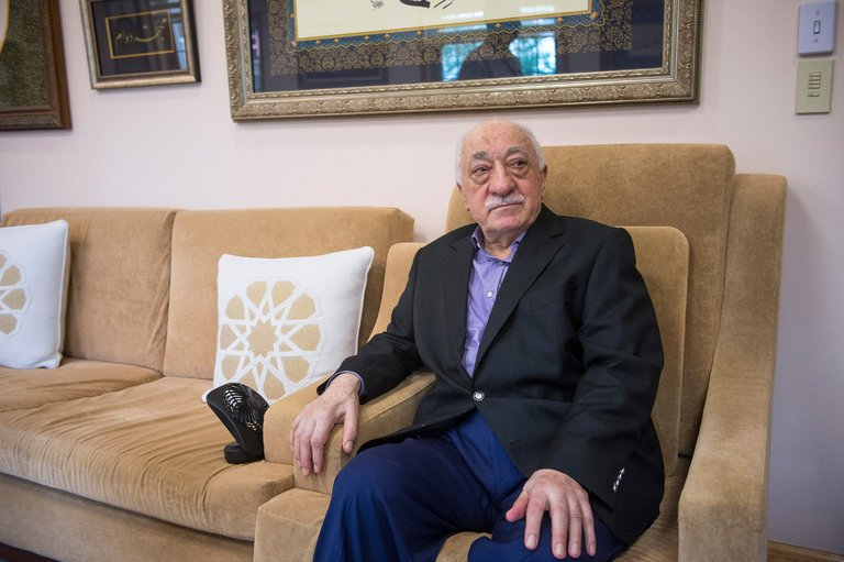 """Fethullah Gulen, a Turkish cleric living in exile in the United States, denied inspiring an attempted coup in his home country, saying """"through military intervention, democracy cannot be achieved."""" Credit Charles Mostoller for The New York Times"""