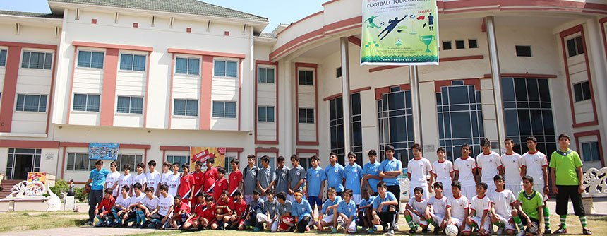 A picture from annual middle section football tournament in PakTurk Main Campus, Lahore on 2nd May 2015.