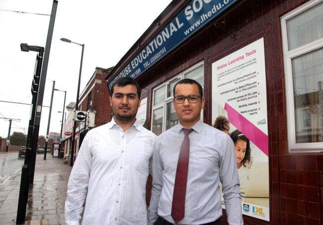 Fatih Deniz and Peter Acmurade of the Lighthouse Education Society.