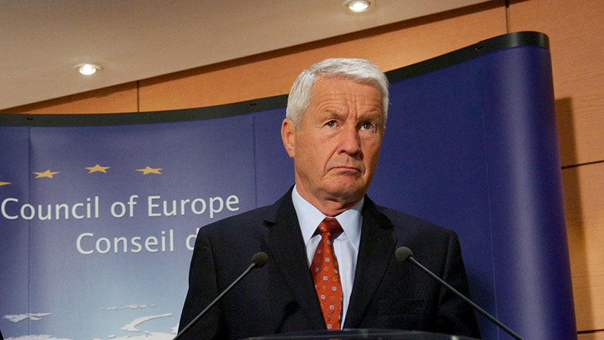 Thorbjorn Jagland, Secretary General of the Council of Europe.