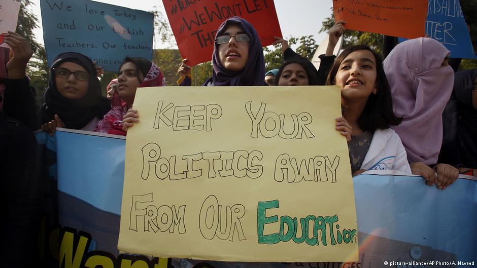 The enforced exodus of Turkish academics even prompted protests in Pakistan