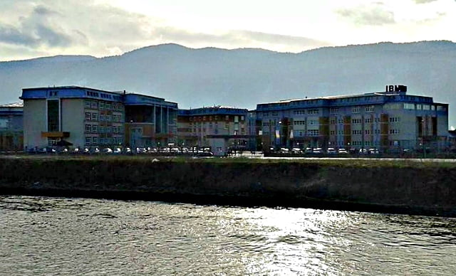 The International Burch University seen from across the river. Photo: Munja and Alen Huskic/Wikimedia.