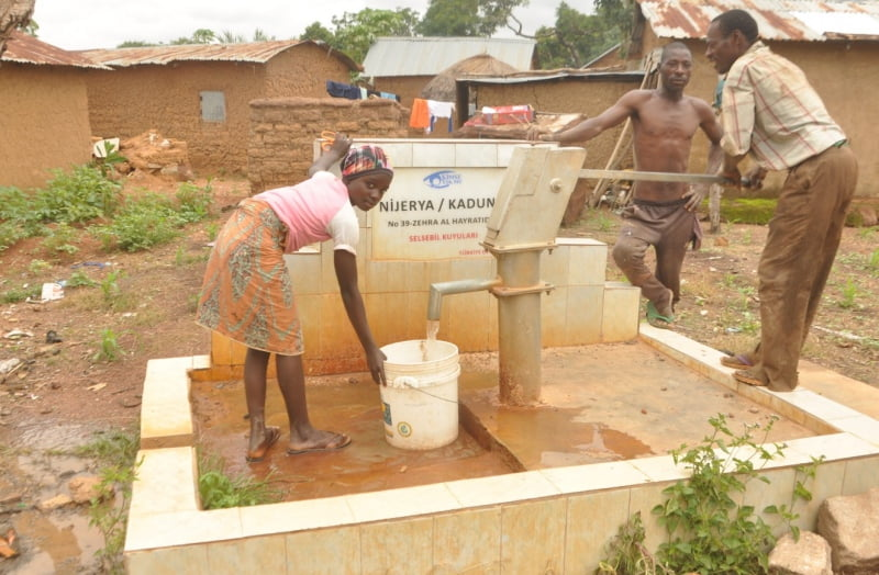 One of the hand pumps constructed by the Nigerian Turkish International College NTIC in Kaduna state, Nigeria.