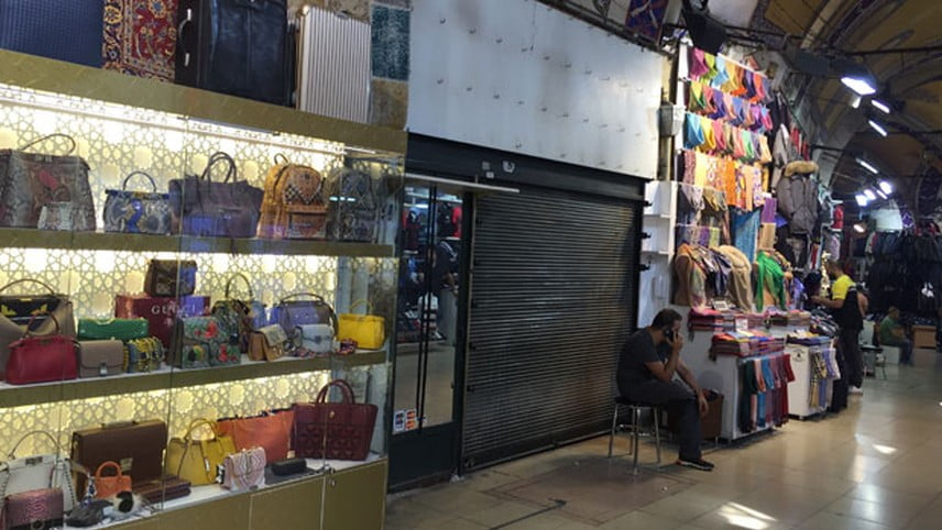 Stores are closing at Istanbul's famous covered bazaar.