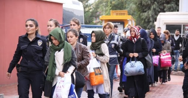 Picture: Women detained in Kocaeli, Turkey for links to Gulen Movement, October 2016.
