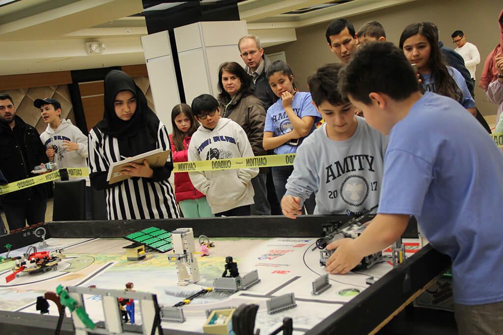 First Lego League qualifier at Brooklyn Amity School