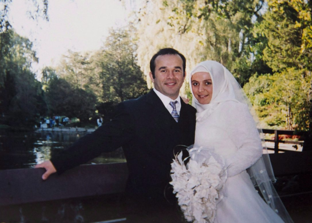 A Calgary imam who has spent more than seven months in a Turkish prison has court date scheduled for today. A photo of a wedding picture of Rumeysa Hanci, right, and imam Davud Hanci, is seen in Calgary on in an August 2016 file photo.  (LARRY MACDOUGAL / THE CANADIAN PRESS)