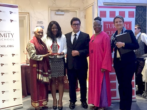 Una Clarke And Assemblywoman Diana Richardson With Turkish Cultural Center Brooklyn Executive Director M. Fethullah Onal And Other Officials. All Photos By Kadia Goba