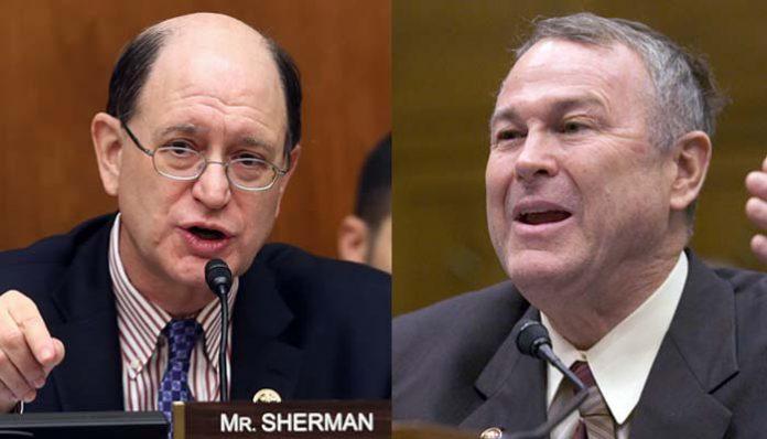 Congressmen Brad Sherman (L) and Dana Rohrabacher